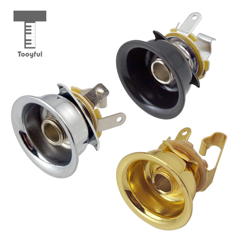 Tooyful 6.35mm 1/4' Jack Stereo Output Socket For Telecaster Electric Guitar Parts