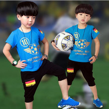 Summer time Trend Lively Kids's Units 2017 New Children Clother Cotton Quick Sleeve T-Shirt + Shorts Clothes Units