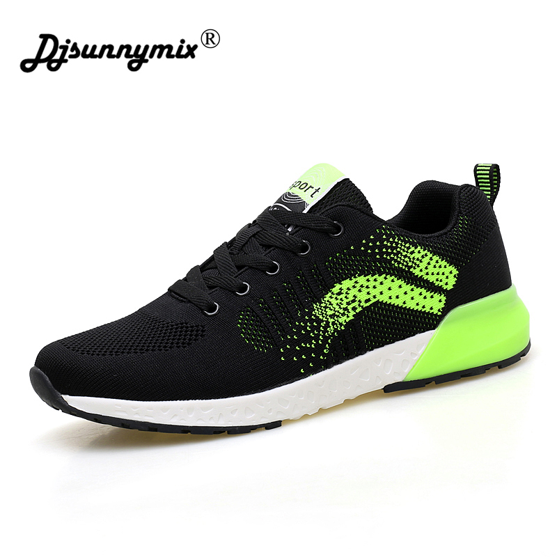 DJSUNNYMIX 2018 Sneakers Breath Jogging for men sports running Shoes Fly Weave Mens Trainers Walking Sport Gym Shoes Men
