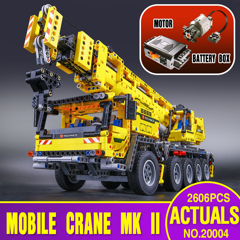 LEPIN 20004 2606Pcs Technic Motor Power Mobile Crane Mk II Model Building Kits Blocks font b