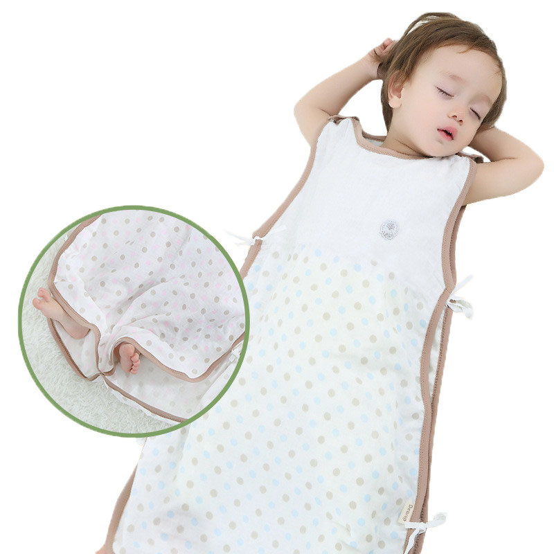 Summer 0-4Y Thin  Muslin Children's Infant Baby Sleeping Bag Diaper Cocoon Or Newborn Toddlers Thermal Baby Sleep Sack Bathrobe