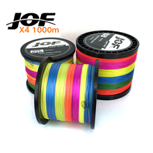 1000m 4strands Multicolor PE Braided Fishing Line Multifilament Fishing Wire 20 30 40 50 60 80 100LBS