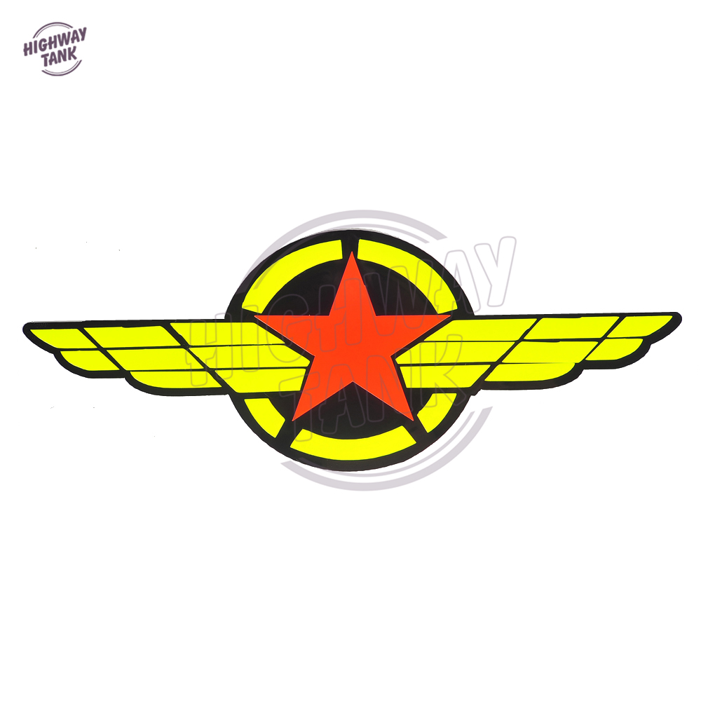 US $2 7 OFF Five Pointed Star Motorcycle Stickers Motocross Wing Racing Warning Reflective Sticker Car Badge Motor Insignia Decal Stickers