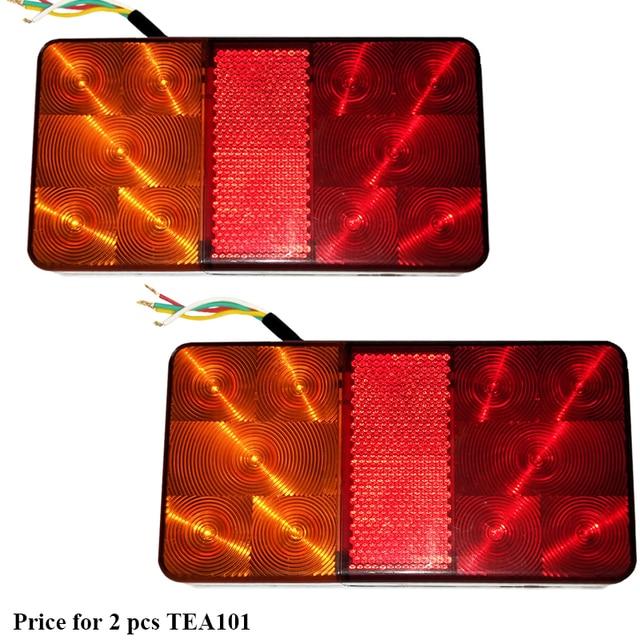 2 chiếc AOHEWEI 10 Bóng Đèn LED 12 V LED Xe Kéo đèn Phía Sau Đèn Đuôi đèn Phanh Dừng Hướng Chỉ Báo Vị Trí đèn Led đèn xe kéo
