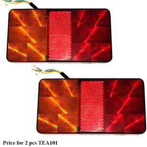 Image 1 - 2 stücke AOHEWEI 10 LEDs 12 v führte Anhänger licht Rücklicht rücklicht Bremse Stop Richtung Anzeige Position led licht anhänger