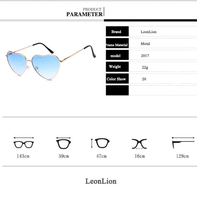 LeonLion 2019 Vintage Heart Sunglasses Women Brand Designer Candy Color Gradient Sun Glasses Outdoor Goggles Party Oculos De Sol