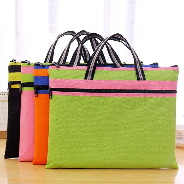 58a4b91b5e85 Непромокаемая ткань Оксфорд женская сумка для отдыха на молнии Сумка для  документов офисные принадлежности