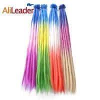 """AliLeader 20 """"Ombre długie dredy szydełka warkocz syntetyczne kolorowe ręcznie Faux Locs Dreads przedłużanie włosów 1 Strand"""