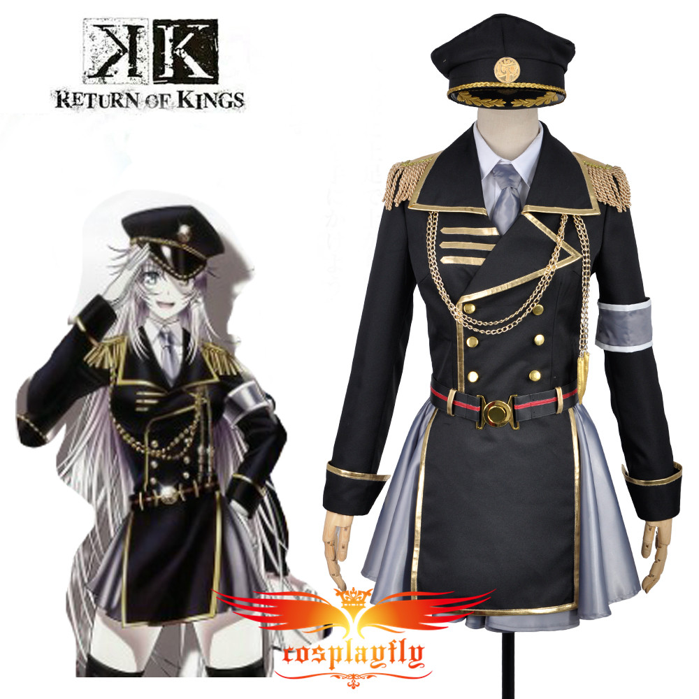 W0842 K Anime Return Of Kings Neko Military Uniform Outfit Cosplay Costume Custom  Adult Women Outfit Clothing Halloween