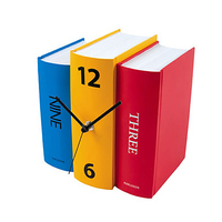 Creative Personalized Tricolor Karlsson Book Table Clock Home Decoration Novelty Bookshelf Desk Clock Modern Design Free