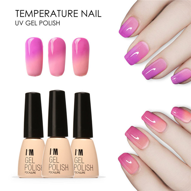 Focallure Temperature Color Changing Nail Gel Polish Long Lasting Soak Off Led Uv Chameleon