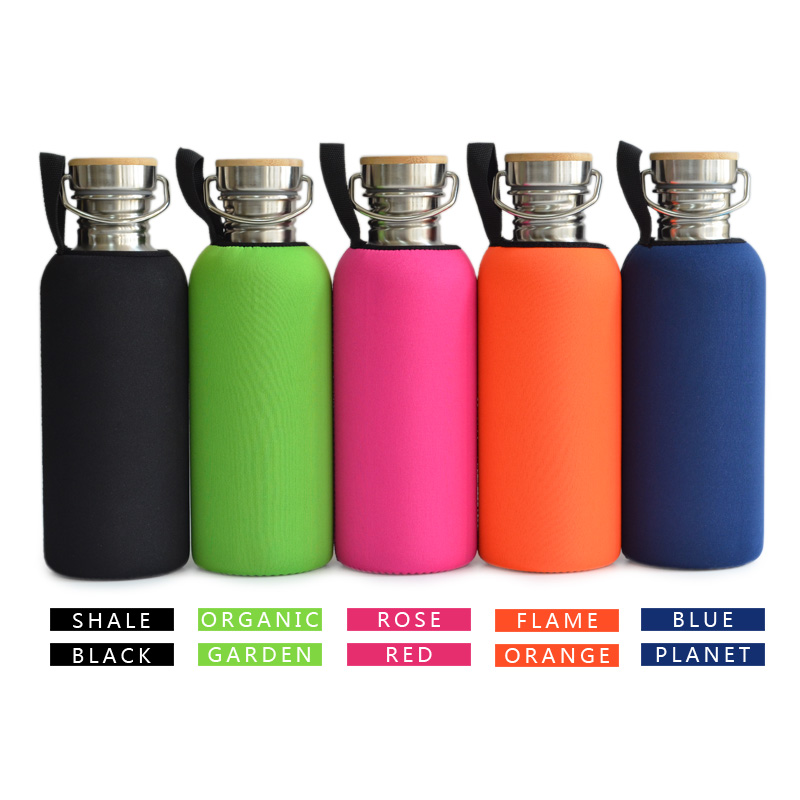 1000mL BPA Besplatna nehrđajućeg čelika boca vode bambus kapa - Kuhinja, blagovaonica i bar - Foto 2