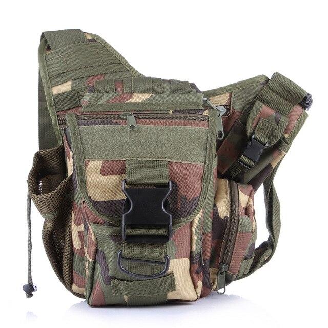 Outdoor MOLLE Military Tactical Backpack Zipper Hiking & Camping Bag Leisure Camera Bag tactical backpack Saddle Pockets Bag