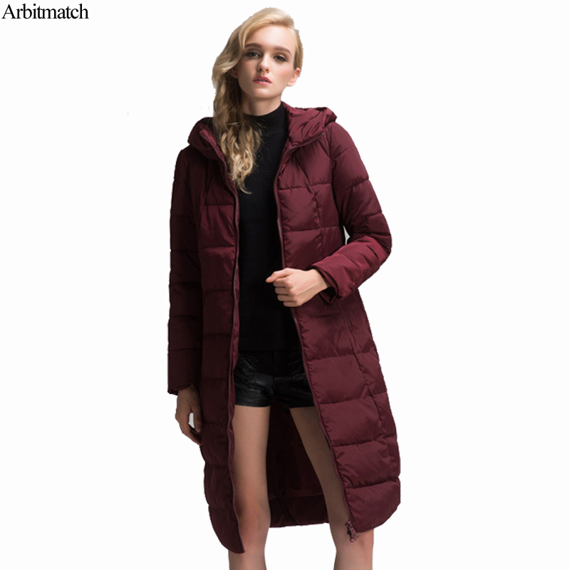 Arbitmatch Fashion Winter Jacket Women 2017 Thicken Overcoat High Quality Quilting Cotton Coat Ladies Parka Warm Hood Outwear new winter women lady thicken warm coat hood parka long jacket overcoat outwear