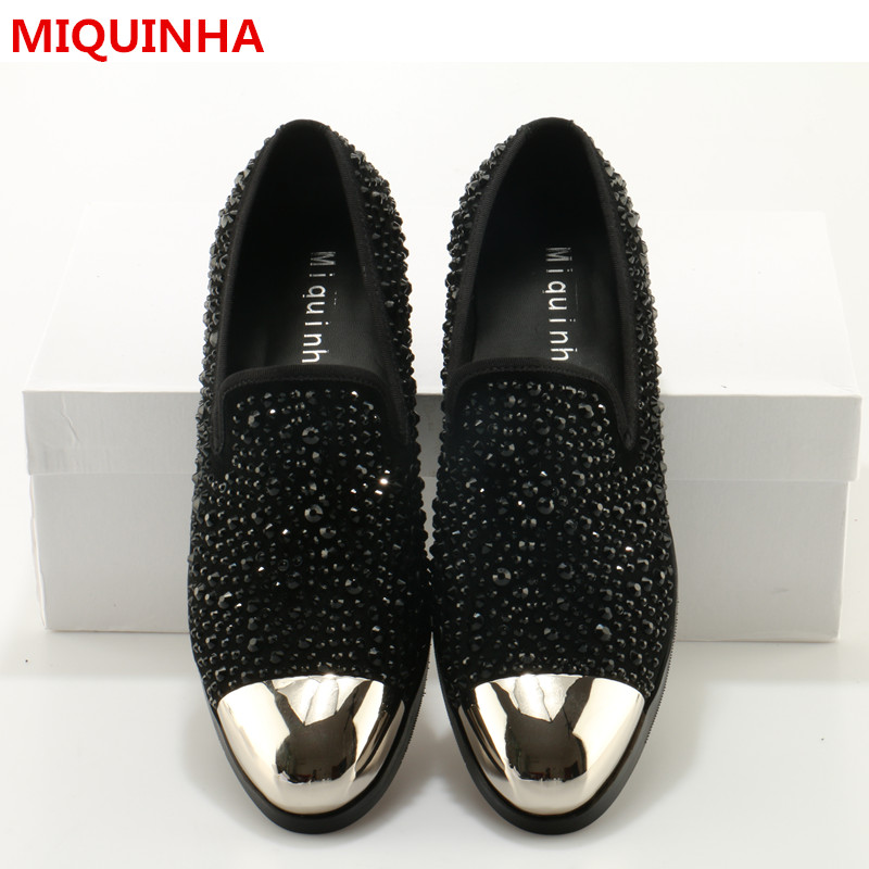 2017 New Shoes Man Casual Cozy Crystal Loafers Round Toe Man Flats Designer Shallow Slip On Suede Shoes Plus Size Men Shoes Tide new stylish man shoes lace up round toe comfort breathable shoes for man casual flats loafers chaussure homme free shipping