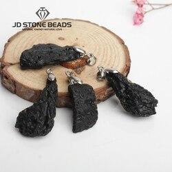 Freies Verschiffen Natürliche Meteoriten Anhänger Großhandel Natürliche Stein Anhänger Halsketten Für Frauen und Männer