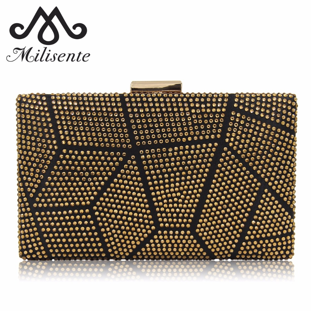 Milisente New Design Women Clutches Purses Ladies Evening Bags Hot-fix Fashion Party Bag Female Wedding Clutch yuanyu 2018 new hot free shipping pearl fish skin long women clutches euramerican fashion leisure female clutches