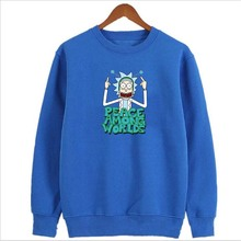 2018 New Rick And Morty hoodies man funny Hip Hop Autumn ricky morty pickle rick printing o-neck rick morty sweatshirts Autumn