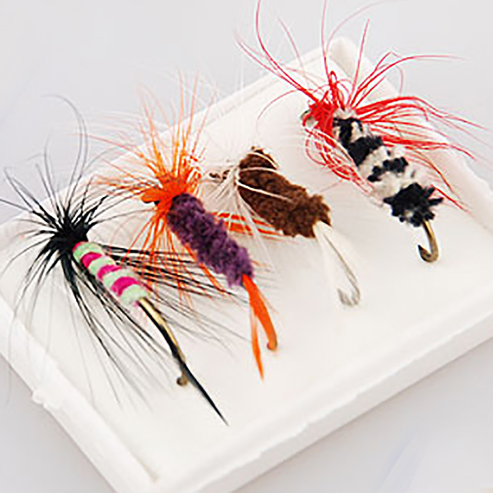 4pcs/lot Fly Fishing Lure Set Artificial Insect Bait Trout