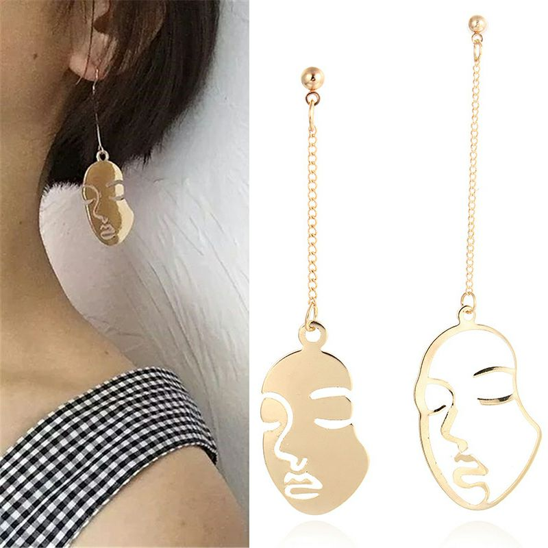 Long Face Hangs Earrings For Women Fashion Drop Earrings Female Bijoux Dangle Jewelry Earring For Girl Party Wedding Gift