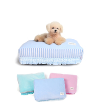 Puppies pet bed Cute Kennel House Leisure dog bed bulldog Dog Mat Soft Sofa Cat Bed for rectangle Bed house for large dogs S M
