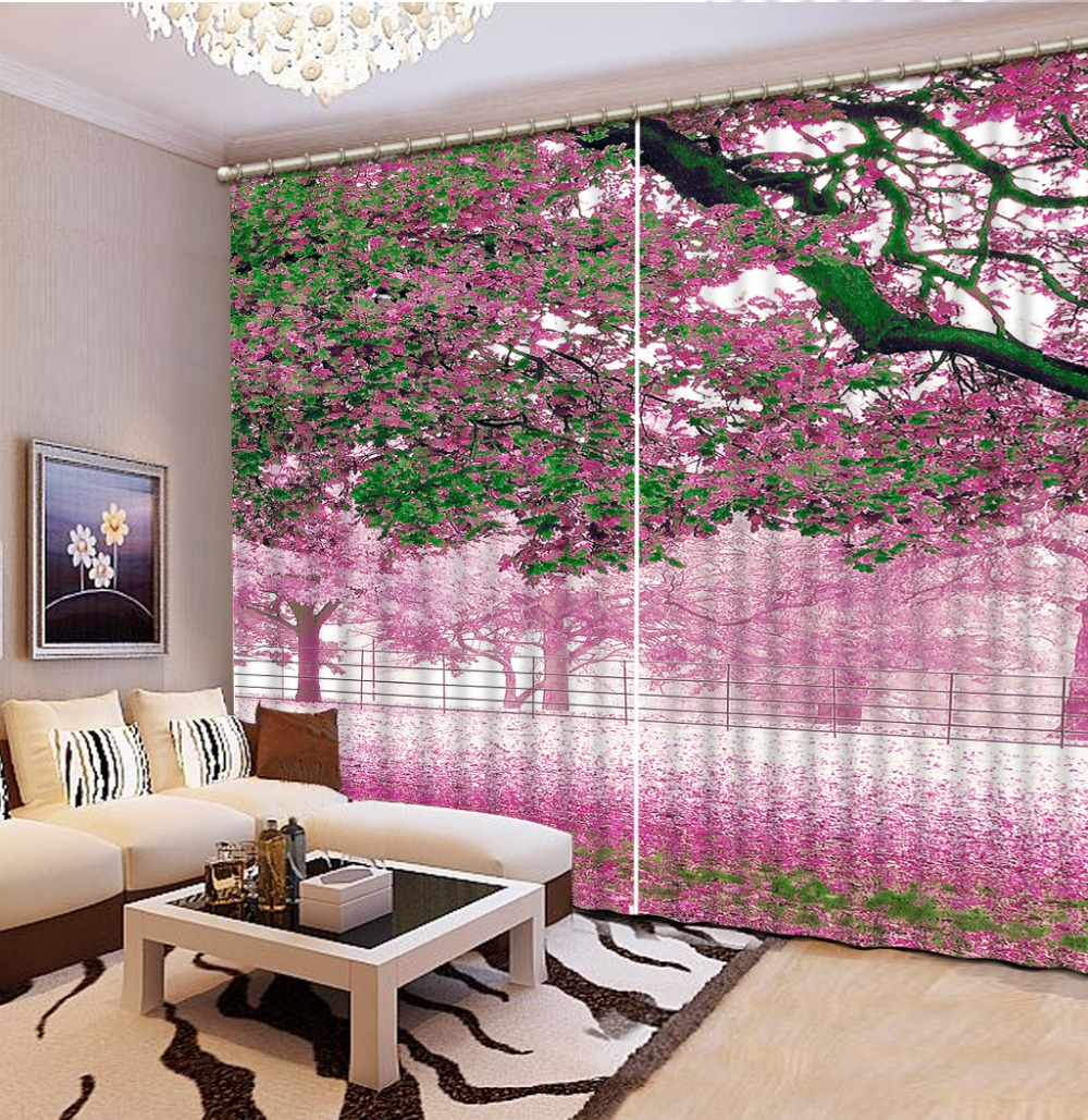 Home Decoration Factory diret sale Curtains for living room spring scenery Curtain window roomHome Decoration Factory diret sale Curtains for living room spring scenery Curtain window room