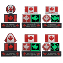 Canadian National Flag Maple Leaf Flag Embroidery Badge Embroideried Icons Military Uniform Tactical Bandage Patch Patches embroidery badge bounty hunter boba fett bantha skull new embroideried badges military tactical armband patch patches for jacket
