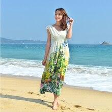 Летние Длинные Boho ремень Floral Maxi Dress