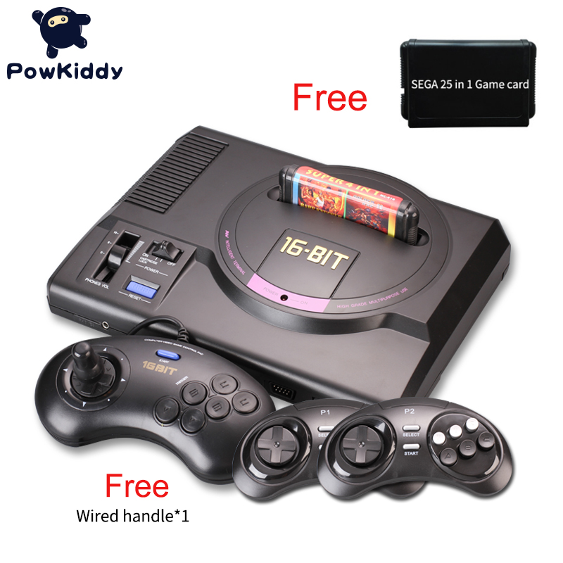 Hot HDMI Video Game Console SEGA MEGADRIVE 1 Genesis 25 in1 free games High definition HDMI TV Out with 2.4G wireless controller hot hdmi 16 bit video game console sega mega drive 1 genesis high definition hdmi tv out with 2 4g wireless controlle cartridge