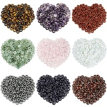 TUMBEELLUWA 1Lot (20Pc) Big Hole Stone Rondelle Loose Beads Fit European Charm Bracelet Jewelry Makings