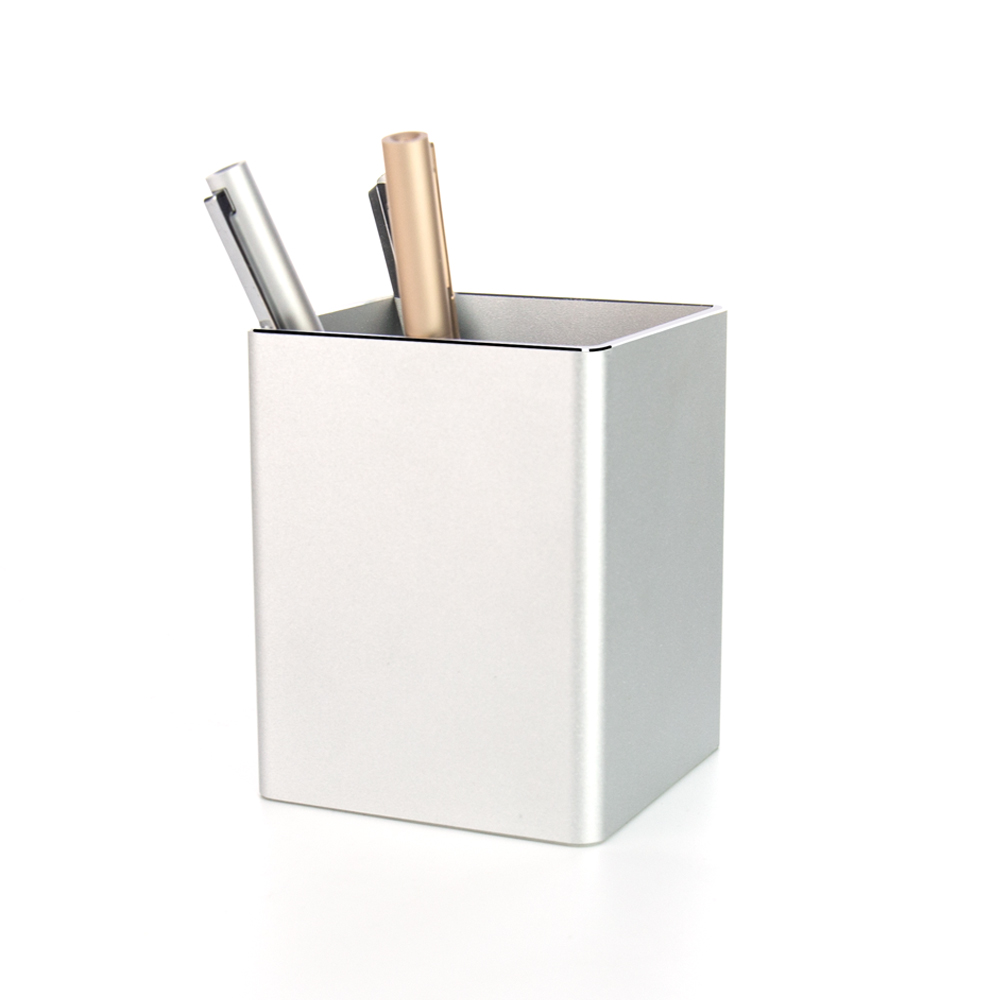 Metal Pencil Pen Holder Desk Aluminum Supplies Organizer and Cup Storage Stationary Sturdy Metal Pencil Pen Holder Desk Aluminum Supplies Organizer and Cup Storage Stationary Sturdy