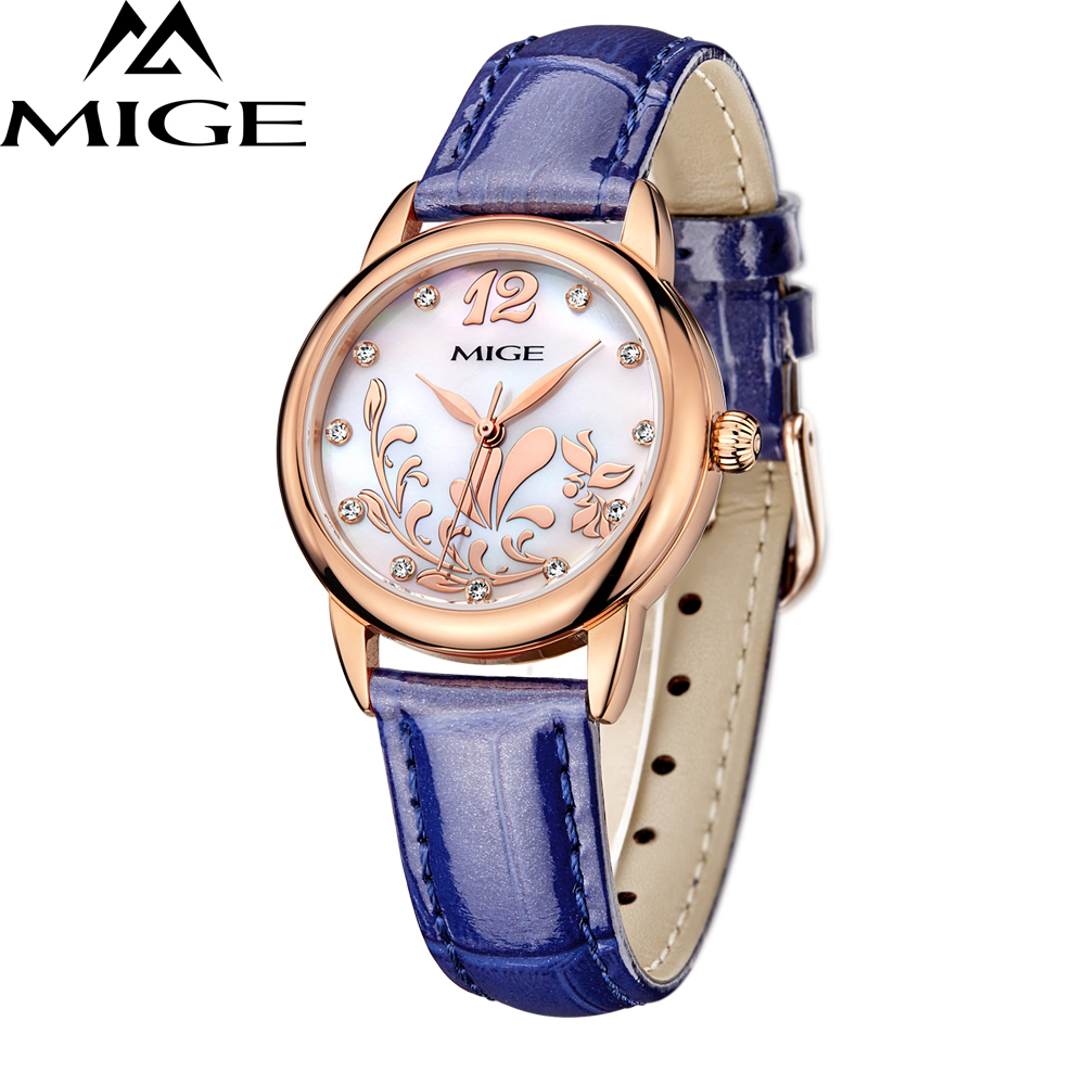 все цены на Top Luxury Brand Leather Women Watches New Arrival Ladies Montre Quartz Watch Blue White Pink Waterproof Fashion Wristwatches онлайн