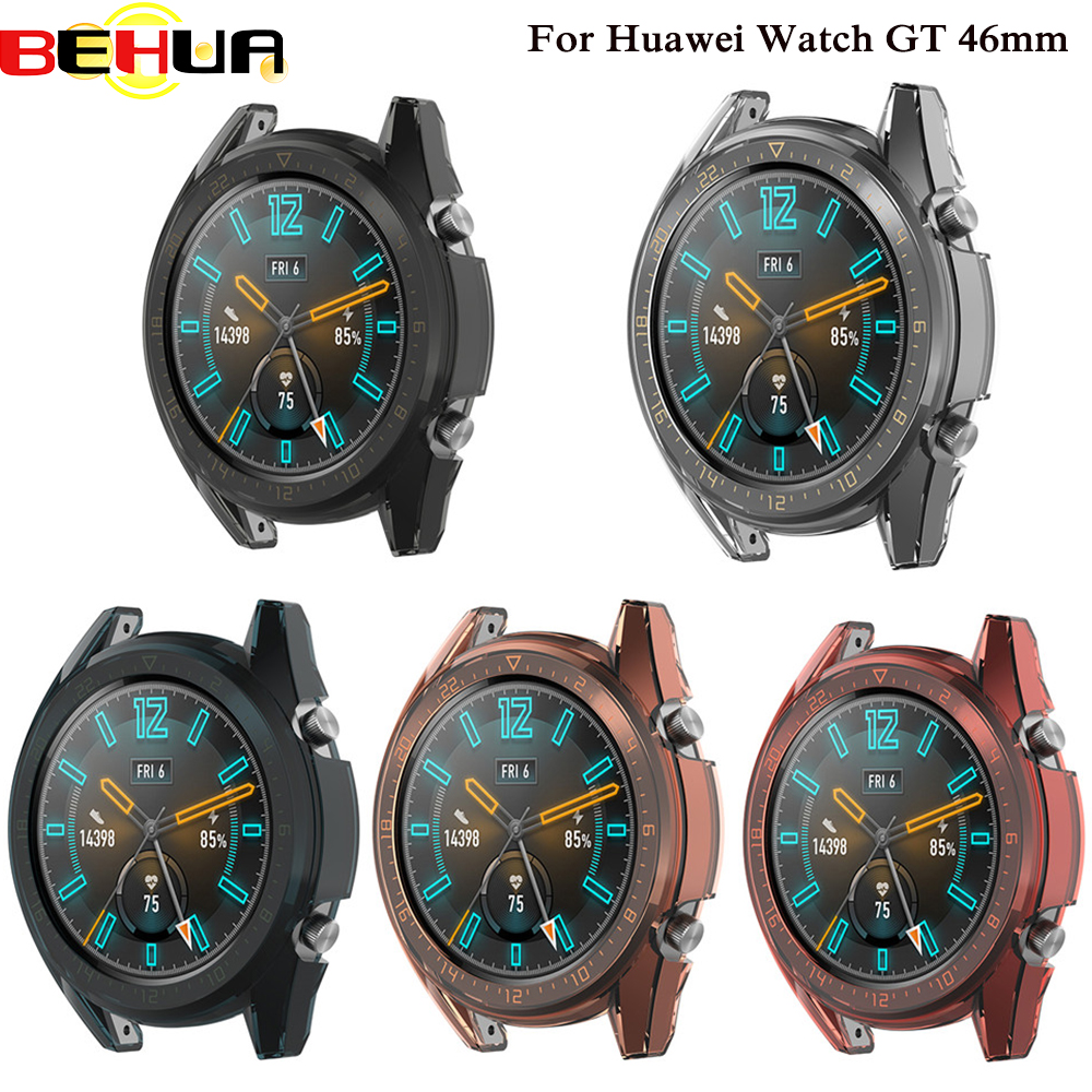 Protection Cases For Huawei Watch GT 46mm TPU Transparent Protective Case Sport Active Classic Version Shell Frame Reloj Cover