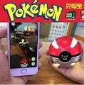 Banco Do Poder Para Pokemons Pokeball Ir Dual USB Externo Bateria 10000 mah LEVOU Luz Carregador Rápido Para Jogos Cosplay Powerbank