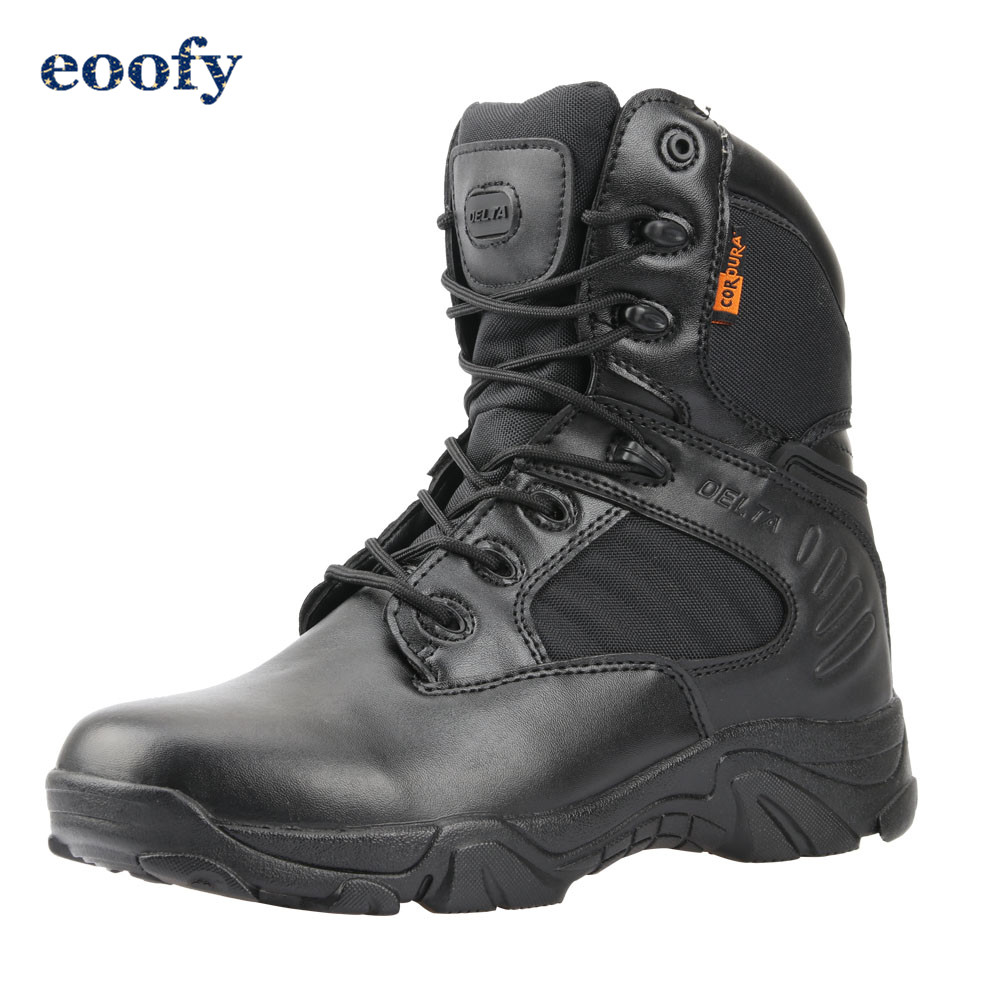 Desert Tactical Military Boots Leather Combat Ankle Boots Men's Outdoor Work shoes Climbing Army Winter Snow Boots