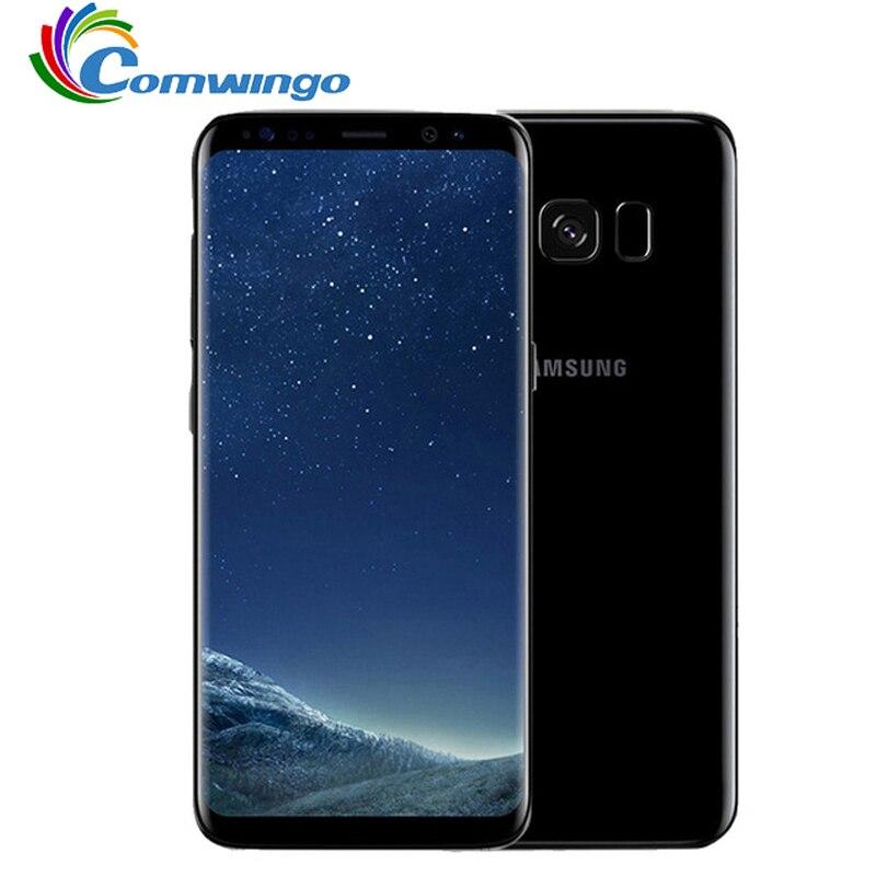 Оригинал, Samsung Galaxy S8 Plus, SM G955U, 4 Гб ОЗУ, 64 Гб ПЗУ, 6,2 дюймов, одна sim карта, четыре ядра, Android, отпечаток пальца, 12 Мп, 3500 мАч, телефон