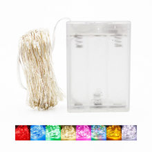 Cordão de luz de led com 100 lâmpadas, 10m, 5m, 2m, para festa de casamento, para casa lâmpada de decoração