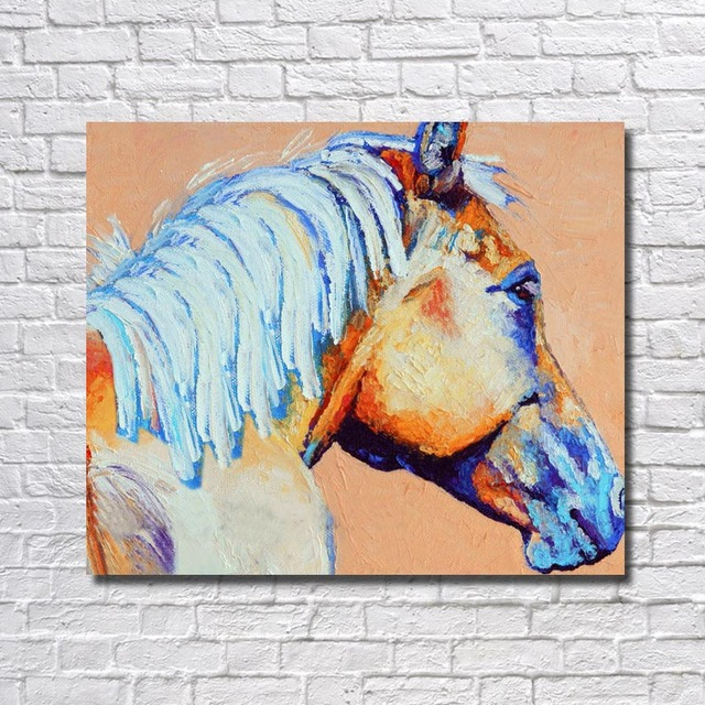 39c0270b060 HOT Abstract Animal Modern Horse Head wall Art Handpainted Oil Painting On  Canvas for living Room Home Decoration picture art