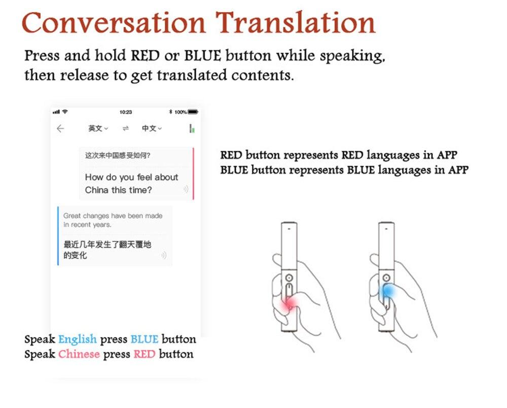 Pocket Language Translator Voice Languages Translation Spanish English French Russian Real-time Multi Instant Translator Device 29