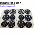 Для Новый Golf 7 Gti MK7 Окрашенные Цвет Volkswagen VW логотип Эмблема автомобиль Передняя Решетка Знак Задняя Крышка Задняя Дверь Знак Golf7 VII Укладки