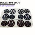 Para o Novo Golf Gti 7 MK7 Pintado Cor Volkswagen VW logotipo do Emblema Do Emblema Grade Dianteira do carro Emblema Traseiro Tampa Traseira Porta Mark VII Golf7 Styling