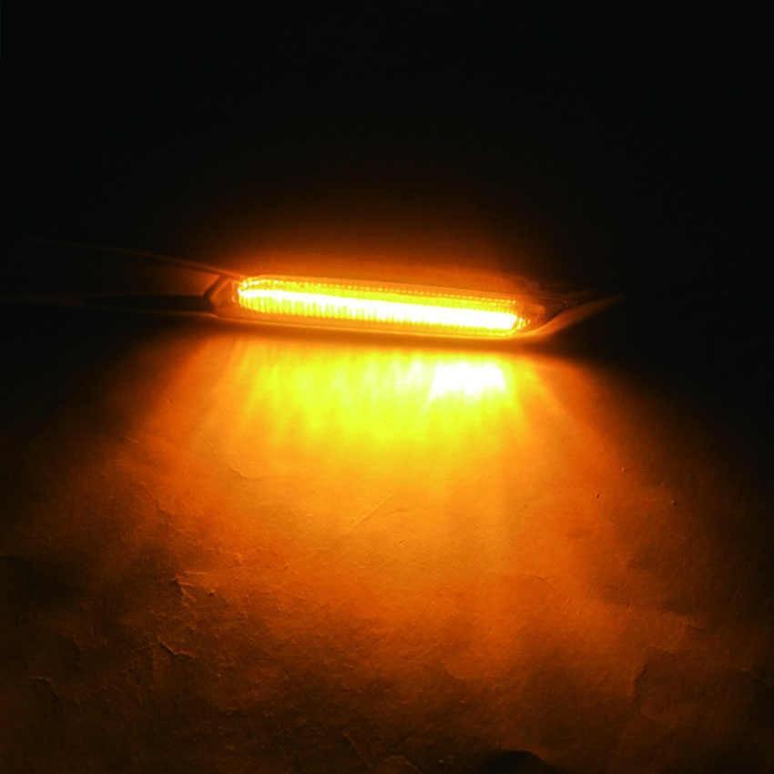 2 Chiếc Hổ Phách LED Nhan Đèn Bên Bút Ánh Sáng Cho Xe BMW E60 E82 E83 E88 E90 E91 Khói Ống Kính f10 Phong Cách Xám + Nẹp Viền