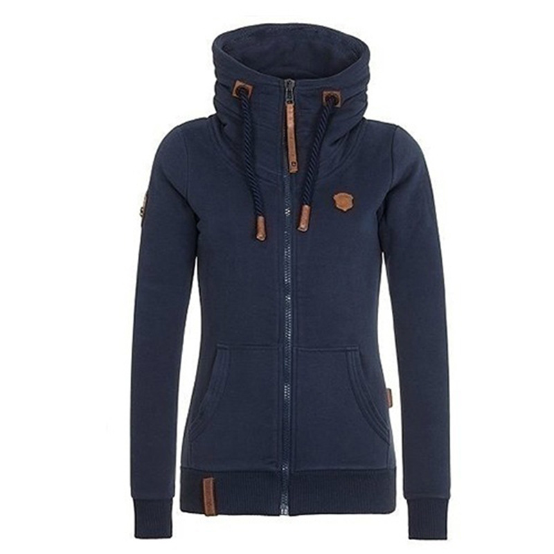 2020 Autumn Winter Casual Hoodies Sweatshirts Big Size 4XL 5XL Women Long Sleeve Pocket Hooded Fleece Jacket Zipper Fashion Tops