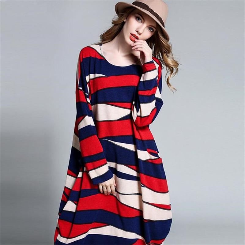 Plus Size XL-XXXXL Knitted Maternity Dress Super loose Winter Dress For women 2017 Autumn&Spring Long Sleeve Warm Dress Vestidos 2018new spring maternity dress loose