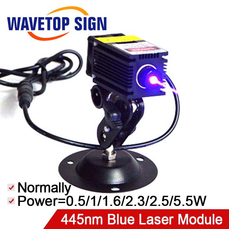 Laser Engraving Machine Blue Laser Module 445nm 0.5W 1W 1.6W 2.3W 5W Built in Driver DC12V Power Supply