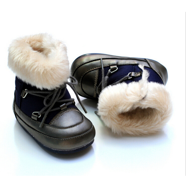 Winter baby shoes girls boys shoes fashion pu leather baby boy shoes girls warm cotton baby boots soft sole toddler girl shoes