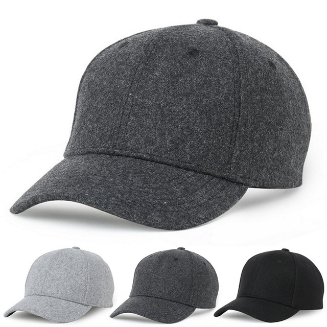 c98e2e8f0ce Autumn And Winter Baseball Cap Cotton warm Sports Solid hats leaf sport cap  for men and