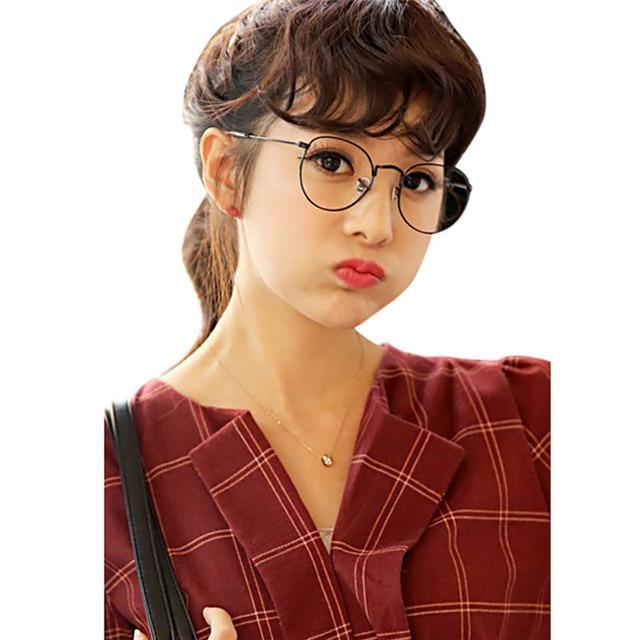 ca92afa0df Retro Vintage Women Eye Glasses Frames Clear Lens Optical Metal oval frame  glass transparent Lunette Eyewear Feminino Masculino