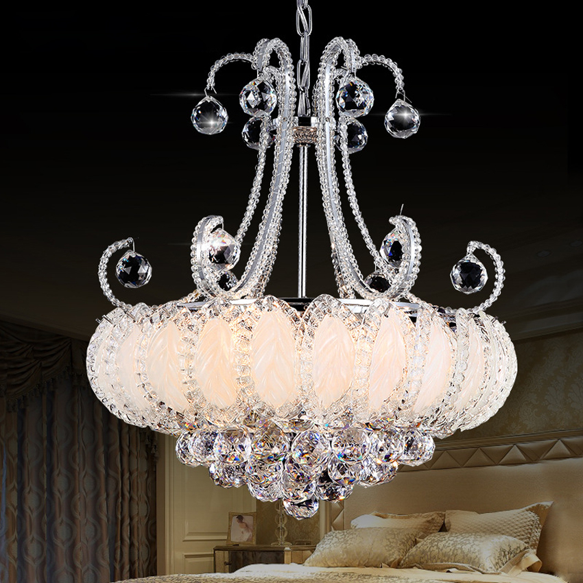 Luxury crystal chandelier lamp living room European-led atmospheric restaurant lights dining room led lamp creative bedroom lamp european restaurant crystal chandelier simple ball bedroom modern simple led creative living room lighting dining room