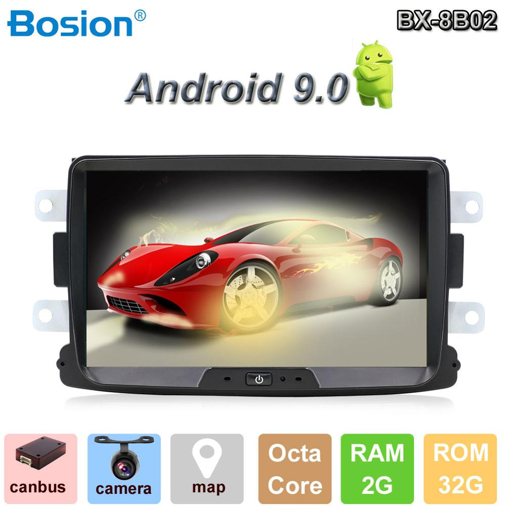 Android 9.0 autoradio 1 din For Duster/Dacia/Sandero/Logan/Captur/Lada/Xray car multimedia player camera cassette tape recorder image